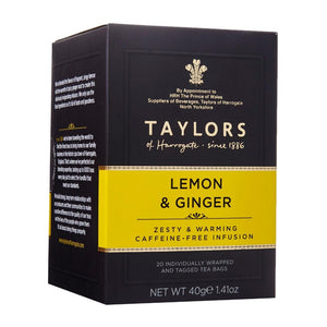 Taylors of Harrogate Lemon and Ginger Infusion Tea Bag 20 Sachets