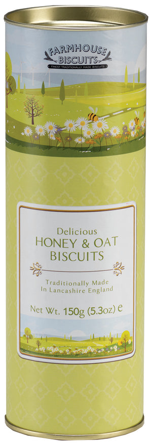 Farmhouse Biscuits Spring Time Honey and Oat Biscuit Tube 150g