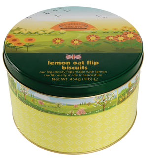 Farmhouse Biscuits Spring Time Lemon Oat Flip Tin 454g