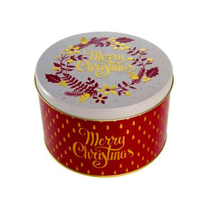 Farmhouse Christmas Round Tin 375g