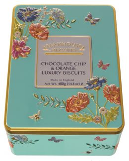 Farmhouse Biscuits Meadow Flowers Chocolate Chip & Orange Luxury Biscuits in Tin 400g