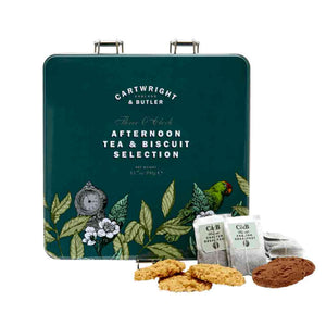 Cartwright & Butler Afternoon Tea & Biscuit Selection in Square Tin 90g +150g x 2