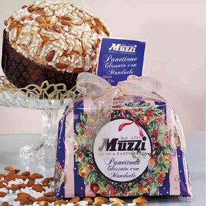 Muzzi Panettone with Almonds and Icing Wrapped 1Kg