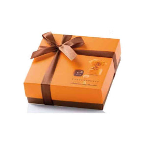 Gianduja Truffles Antica Torroneria Piemontese in orange box with ribbon