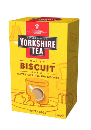 box of Yorkshire Tea Biscuit brew 40 tea bags