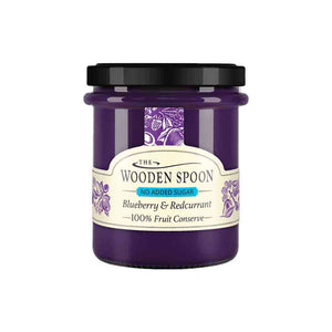Wooden Spoon Blueberry & Redcurrant High Fruit Spread No Added Sugar 227g