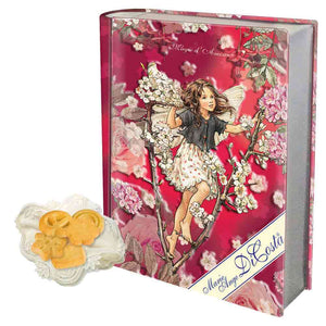 Book Gift Tin with Cookies. Red Colour