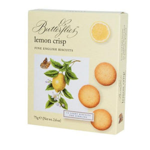 Artisan butterflies lemon crisps light biscuits for nibbling
