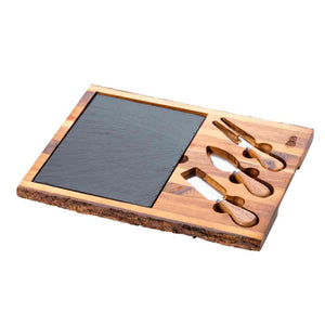 Cartwright & Butler Lytton House Rectangular Cheese Board & Slate (Acacia Wood)