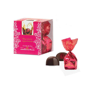 Antica Torroneria Piemontese Extra Dark Chocolate Praline with Cherry Cream and Whole Cherry 100g