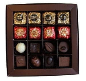 16 Pieces Assorted Wrapped and Pralines Chocolates in Red Gift Box