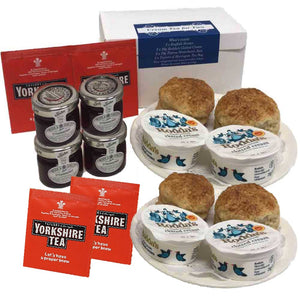 Cream Tea for Four [free shipping] - Scones, Clotted Cream, Jam, Tea
