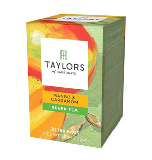 mango and cardamom green tea 20 tea bags in box