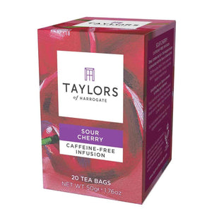 caffeine-free sour cherry infusion 20 tea bags