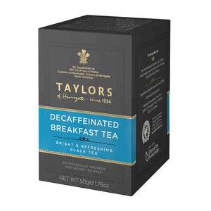 Taylors of Harrogate Decaffeinated Breakfast Tea Bags 20 Sachets