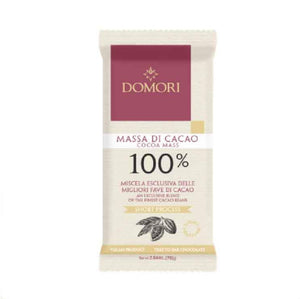 Domori 100% extra dark chocolate bar 75 grams in recyclable flowpack