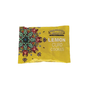 twin pack of lemon curd biscuits from Farmhouse biscuits in yellow kensington design flowpack