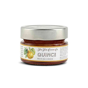 jar of quince fruit puree for cheese