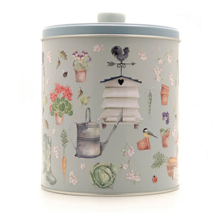 Grandma Wild's Embossed Round Garden and Beehive Tin 300g