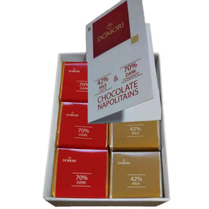 Domori 42% Milk and 70% Dark Chocolate Napolitains 36pcs Gift Box