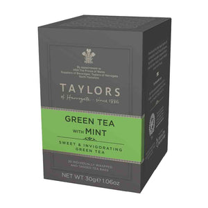 Taylors of Harrogate Green Tea With Mint Bag 20 Sachets