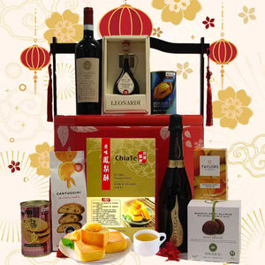 Brilliant Hamper in Oriental Chest with Handle