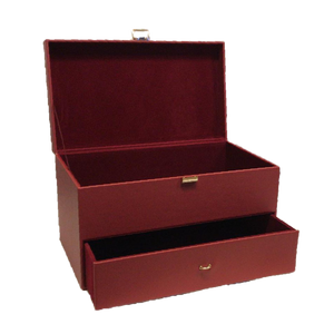1 Tier Red Leather Chest- For Customised Hamper/Gift Set
