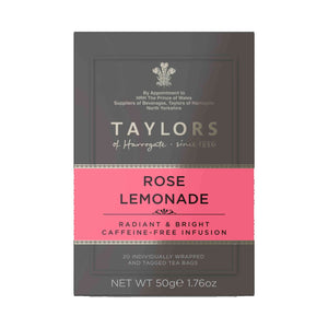 Taylors Of Harrogate Rose Lemonade Infusion Tea Bag 20 Sachets