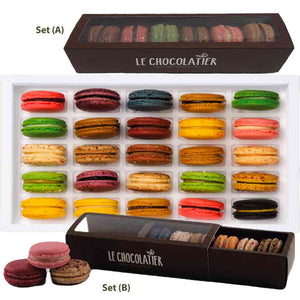Richart French Macarons 6pc Box - Choice of Set (A) or Set (B)