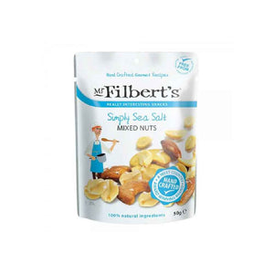Mr Filbert's Simply Sea Salt Mixed Nuts in 50 gram pack