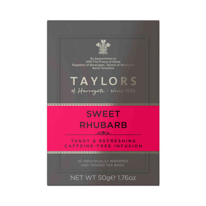 Taylors of Harrogate Sweet Rhubarb Tea Bag 20 Sachets