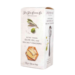 The Fine Cheese Co Sea Salt and Extra Virgin Olive Oil Crackers 125g