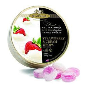Simpkins Strawberry & Cream Drops 200g