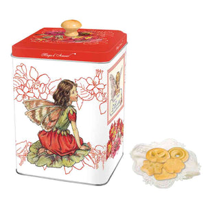 Di Costa Magical Square Embossed (Red) Tin with Assorted Italian Pastries 150g