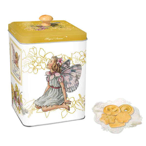 Di Costa Magical Square Embossed (Yellow) Tin with Assorted Italian Pastries 150g