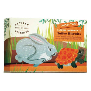 natural ingredients toffee hare and tortoise-shaped biscuits for children