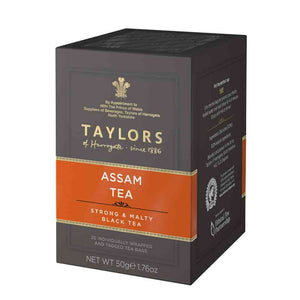 50g box of Taylors of Harrogate Assam tea bags