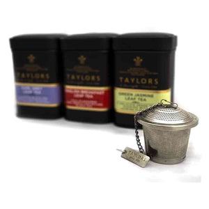 Taylors of Harrogate Classic Gift Collection of Loose Leaf teas in Caddies with Tea Infuser, 130 g
