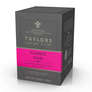 box of Taylors of Harrogate Classic Chai Tea 20 tea bags