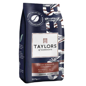 227 grams bag of Colombia coffee beans from Taylors of Harrogate