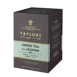 box of Taylors of Harrogate Green Tea with Jasmine 20 tea bags in sachets