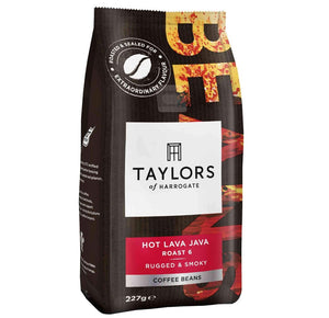 227 grams of Taylors of Harrogate Hot Lava Java Coffee Beans