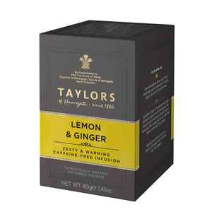box of 20 lemon and ginger tea bags