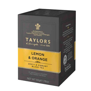 20 tea bags Taylors of Harrogate Lemon and Orange