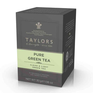 pure green tea from Taylors of Harrogate 20 tea bags in box
