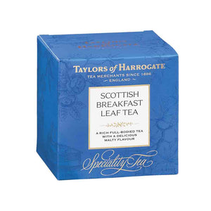 box of taylors of Harrogate Scottish breakfast tea leavestea