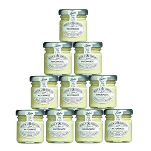 10 mini jars of tiptree mayonnaise