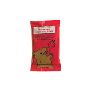 pack of 2 blowing raspberries bear. great for kid snacks