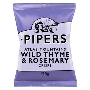 Pipers Wild Thyme & Rosemary Crisps 150g
