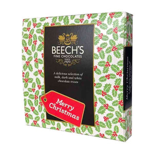 Beech's Fine Assorted Milk, Dark & White Chocolates in Christma Gift Box 90g